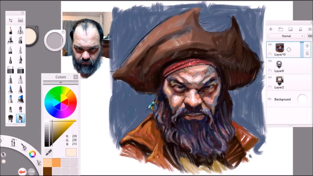 Sketchbook - графический редактор для планшета